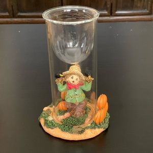 Yankee Candle Scarecrow Glass Column Candle Holder